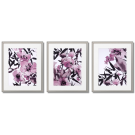 GRAPHICS WITH A FLOWER MOTIF, HEATHER (PURPLE) COLOUR