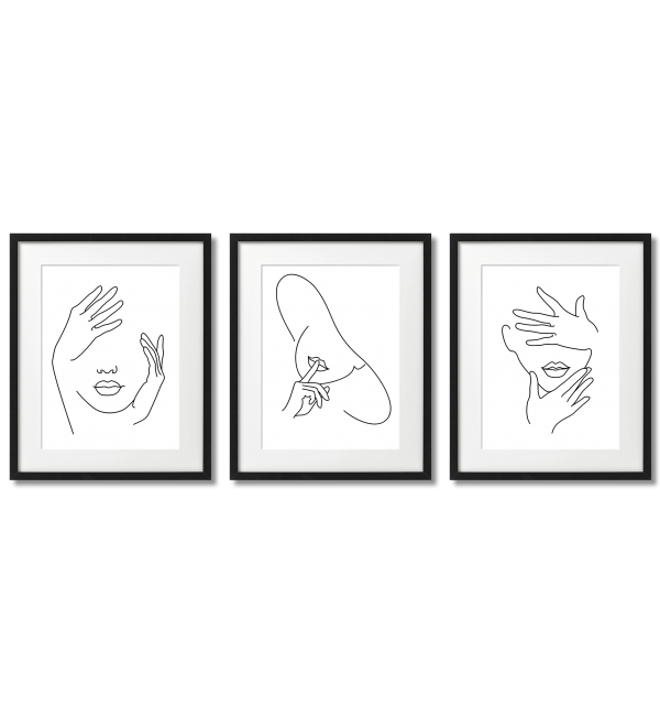 SINGLE LINE - POSTERS FACES