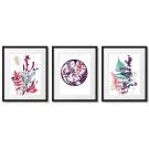 COLORFUL GRAPHICS, LEAVES AND PLANTS