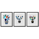 GRAPHICS WITH CACTUSES, COLORFUL POSTERS
