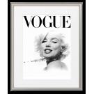 PLAKAT VOGUE, OKŁADKA CZARNO-BIAŁA, Marilyn Monroe Z NASZYJNIKIEM