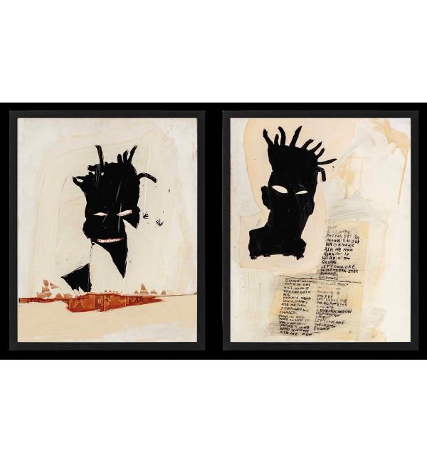 Jean-Michel Basquiat 2 PLAKATY KOLAŻE