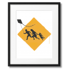 BANKSY - FAMILY WITH A KITE
